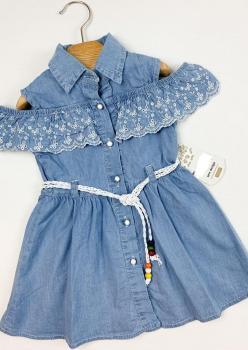 Kız Çocuk Brodeli Elbise