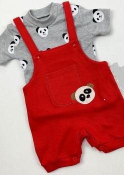 Panda Nakışlı Bebek Tulum