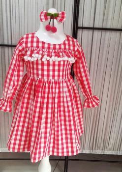 Fusya Ekose Çocuk Elbise