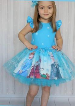 Elsalı Kız Çocuk Elbise 2