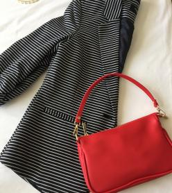 Kırmızı Baget Çanta