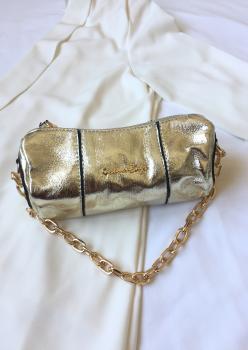 Altın Silindir Çanta