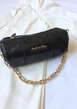 Siyah Rugan Silindir Çanta