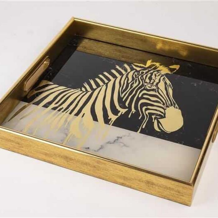 Mikasa Moor Gold Zebra Desenli Kare Tepsi 35 cm