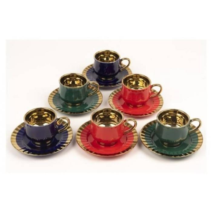Mikasa Moor tria 6 kişilik kahve fincanı seti