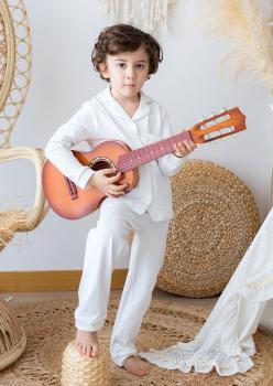 Masal Beyaz Çocuk Pijama Takımı
