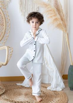 Masal Siyah Çocuk Pijama Takımı