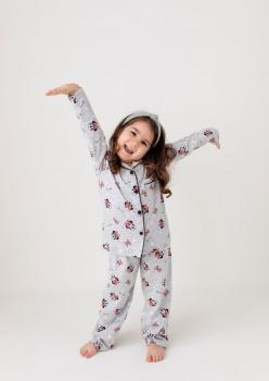 Gri Mickey Çocuk Pijama Takımı