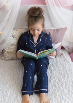 İndigo Unisex Çocuk Pijama Takımı