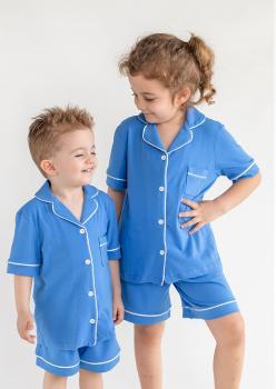 Sun Mavi Unisex Çocuk Pijama Takımı
