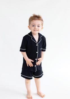 Sun Siyah Unisex Çocuk Pijama Takımı