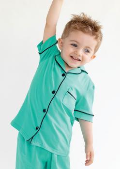 Sun Yeşil Unisex Çocuk Pijama Takımı