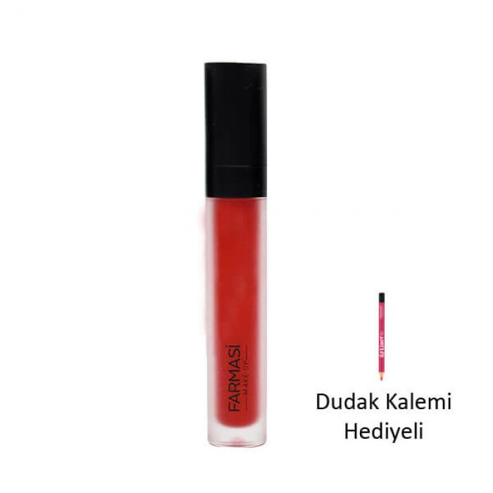 Hediyeli Ürün - FARMASİ MAT LİKİT RUJ 4 ML- 05 RED LOVE