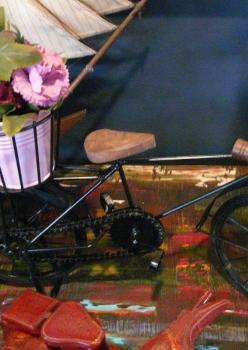 Dekoratif Bisiklet Çiçekli