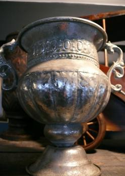 Metal Gümüş Varak Eskitme Kupa