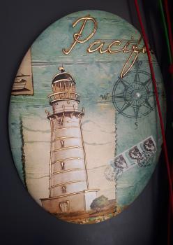 Deniz feneri vinil  tablo