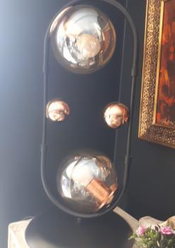 Metal camlı abajur