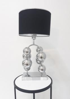 Toplu abajur gümüş