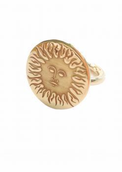Güneş Desenli Kadın Gümüş Yüzük