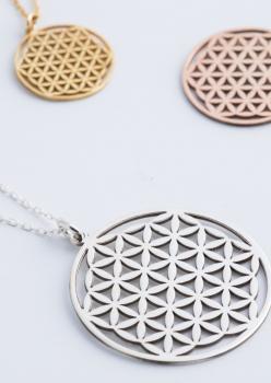 Yaşam Çiçeği Kadın Kolye Gümüş