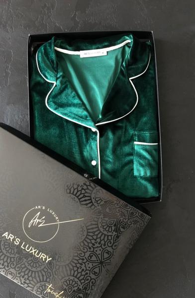 Yeşil Kadife Bayan Pijama Takımı satın al