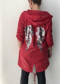 Kırmızı Bayan Yağmurluk