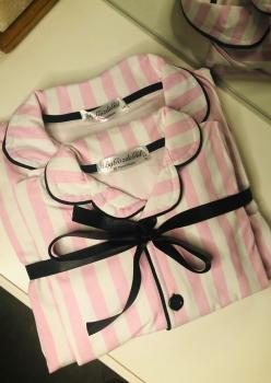 Victoria Model Uzun Kol Anne Çocuk Pijama Takımı 1 Anne 1 Çocuk