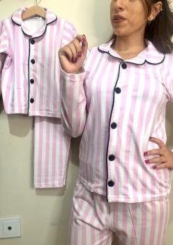 Victoria Model Uzun Kol Anne Çocuk Pijama Takımı 1 Anne 2 Çocuk