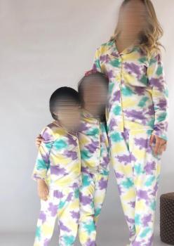 2 Adet Bayan Batik Desen Anne - Genç Kız Pijama Takımı