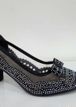 Kalın Topuklu Siyah Ayakkabı