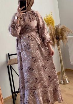 Krep Saten Bayan Elbise cc006