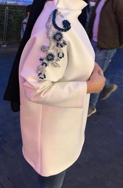 Dalgıç Kumaş Omuzu İşlemeli Beyaz Tunik satın al