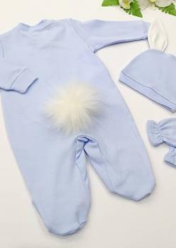 Bebek Tulum 3lü set Mavi