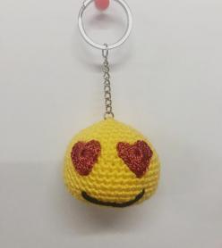 Amigurumi Organik Yıkanabilir Sarı Renkli Oyuncak/Anahtarlık