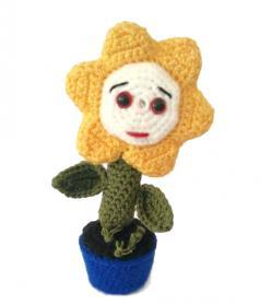 Amigurumi yıkanabilir sağlıklı ay çiçeği oyuncak