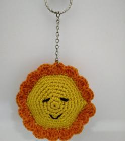 Amigurumi Yıkanabilir Sağlıklı Güneş Oyuncak/Anahtarlık