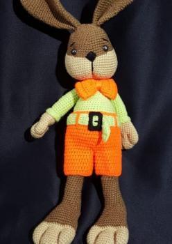 Amigurumi Yıkanabilir Sağlıklı Organik Tavşan Karakteri oyuncak