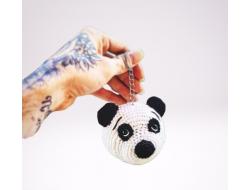 Amigurumi Yıkanabilir Sevimli Panda Anahtarlık