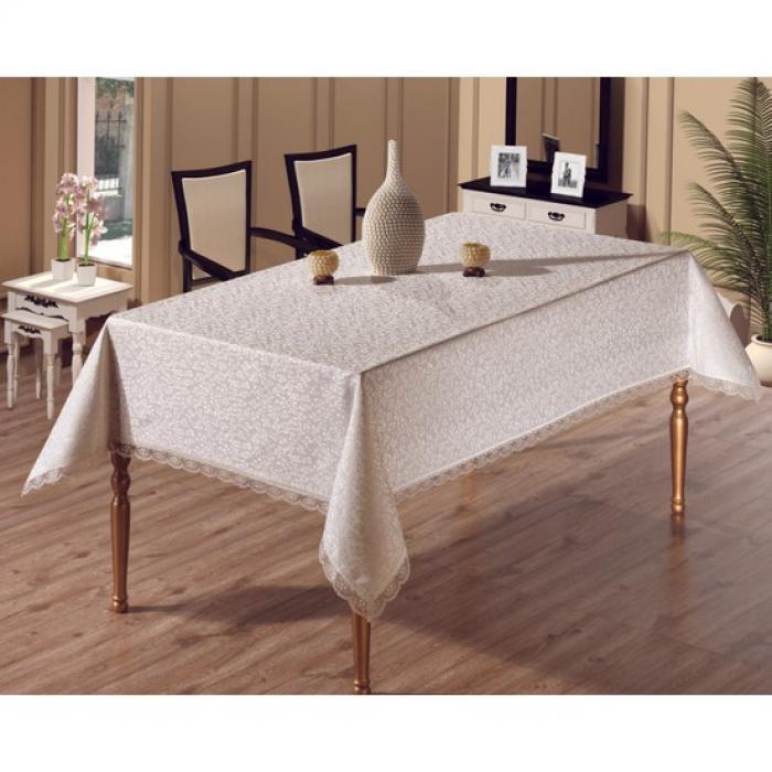 Dertsiz Masa Örtüsü Gipürlü 160x220 12 kişilik
