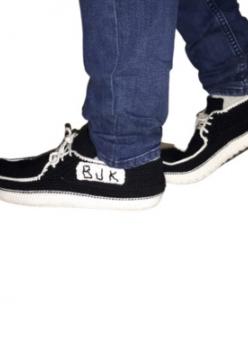 Organik El Örmesi Unisex Yıkanabilir Ev Ayakkabısı