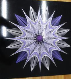 Stringart Filografi Sanatından Kutup Yıldızı Tablosu
