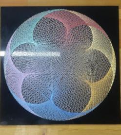 Stringart Filografi Sanatından Renkli Mandala Tablo