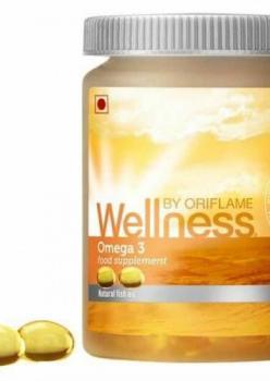Wellness By Oriflame Omega 3 Balık Yağı-Takviye Edici Gıda-60 Kap